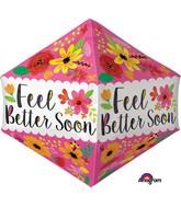 "21"" Jumbo Feel Better Soon Floral Balloon"