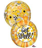 """16"""" Jumbo Get Well Happiness Orbz Balloon"""