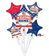 Bouquet Welcome Back Patriotic Balloon