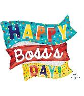 """32"""" Jumbo Boss's Day Flags Balloon"""