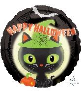 """18"""" Halloween Black Kitty Balloon"""