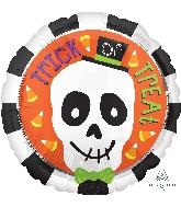 """18"""" Trick Or Treat Skull Balloon"""
