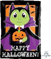 """17"""" Junior Shape Xl® Dracula & Pumpkin Balloon"""