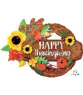 """32"""" Jumbo Thanksgiving Wreath Balloon"""