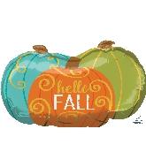 "29"" Jumbo Hello Fall Pumpkins Balloon"