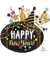 """30"""" Jumbo Festive New Year Balloon"""