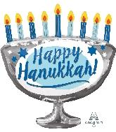 """29"""" Jumbo Happy Hanukkah Menorah Balloon"""