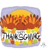 """18"""" Happy Thanksgiving Turkeys Balloon"""