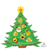 "34"" Jumbo Emoticon Christmas Tree Balloon"