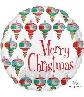 """18"""" Retro Christmas Balloon"""