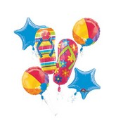 Bouquet Flip Flops Balloon Packaged