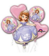 Sofia the First Bouquet of Balloons