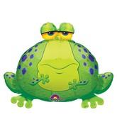 "30"" Jumbo Big Bullfrog Foil Balloon"