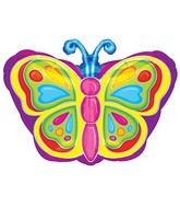 """18"""" Rainbow Colorful Butterfly Balloon"""