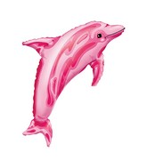"""37"""" SuperShape Pink Dolphin Balloon"""