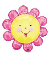"29"" SuperShape Chatterbox Pink Flower Balloon"