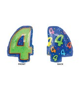 """18"""" Junior Shape 4 Multi-Color Balloon Packaged"""