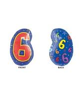 """21"""" Junior Shape 6 Multi-Color Balloon"""