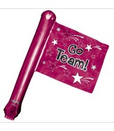 "25"" Airfill Only U-Inflate Go Team Burgundy Rally Flag"