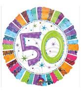 "18"" Holographic Radiant Birthday 50 Balloon"