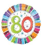 """18"""" Radiant Birthday 80"""