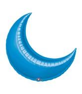 "35"" Blue Crescent Moon Balloon"