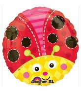 "18"" Cute Lady Bug Mylar Balloon"