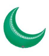 "35"" Green Crescent Moon Balloon"