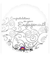 "18"" Engagement Congratulations Mylar Balloon"