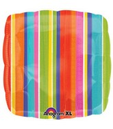 "18"" Del Sol Stripes Mylar Balloon"