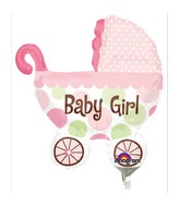 Airfill Only Baby Buggy Girl Mini Shape
