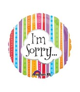 """18"""" I'm Sorry Colorful Lines Balloon Packaged"""