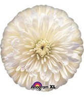 "18"" Photographic White Flower Balloon"