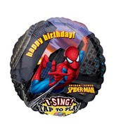 "28"" Sing-A-Tune Spiderman Birthday"