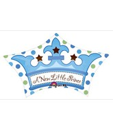 "24"" Little Prince Crown Mylar Balloon"