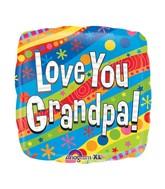 """18"""" Colorful Love You Grandpa Balloon"""
