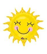 """29"""" Smiling Sunshine Sun Balloon"""