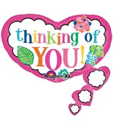 """26"""" SuperShape Colorful Thinking of You Balloon Packaged"""