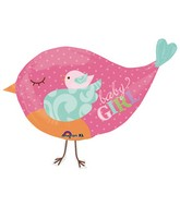"33"" Tweet Baby Girl Bird Balloon"