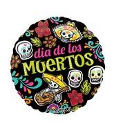 """18"""" Dia de Muertos Skulls Balloon"""