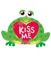 "30"" SuperShape Kiss Me Toad Balloon"