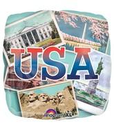 "18"" Patriotic Postcards Balloon"