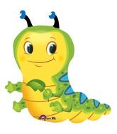 """28"""" Cute Caterpillar SuperShape Mylar Balloon"""