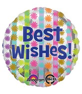 "18"" Bright Best Wishes Balloon Packaged"