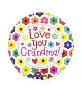 "21"" ColorBlast Love You Grandma Flowers Balloon"