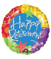 "32"" Jumbo Holographic Happy Retirement Balloon"