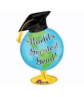 Large Shape Greatest Grad Globe Balloon