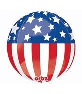 "16"" Patriotic Stars & Stripes Orbz Balloons"
