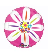 "21"" ColorBlast Colorful Daisy Balloon"
