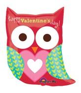 "27"" SuperShape Happy Valentine's Day Owl Balloon"